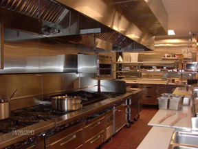 Commercial kitchen fire - after photo