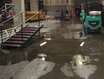 Saint Louis University gym water damage