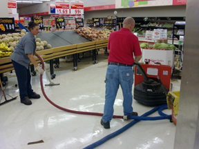 water damage grocery chain