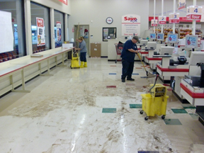 water damage regional grocery chain