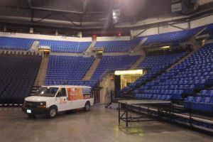SLU Arena Water Damage complete